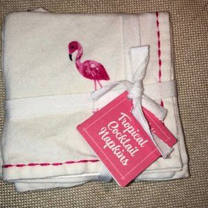 Cocktail Napkins. Southern charm. Embroidered. NWT